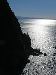 towers in the sparkly sea (carolyn_in_oregon) Tags: oregon pacificocean oswaldweststatepark cliffsofneahkahnie