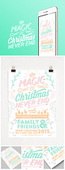 Christmas card typography 2015 (lemongraphic) Tags: christmas xmas reindeer newyear card letterpress merrychristmas newyearcard 2015 newyearday christmas2014 christmas2015 newyear2015 typogrpahycard
