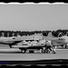 Black & White of Two EA-6Bs on the Ault Field Tarmac
