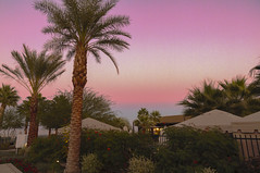 Reign of fire in the sky at sunset (<<Jamms>>) Tags: california ca travel trees sunset usa mountains palms landscape desert palmsprings southern ranchomirage