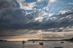 Costa Vicentina (Alicia Clerencia) Tags: light sunset sea luz portugal water clouds landscape boats mar agua barcos paisaje nubes