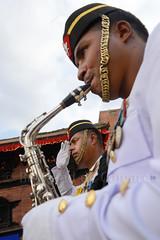 Musiciens, Indra Jatra (Bertrand de Camaret) Tags: nepal man festival vertical army asia ngc asie soldat homme musique armee nationalgeographic musicien 2013 indrajatra bertranddecamaret