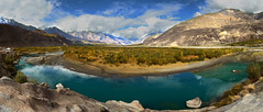 Rivers are roads which move, and which carry us where we desire to go. (Blaise Pascal) (NotMicroButSoft (Fallen in Love with Ghizar, GB)) Tags: autumn water river lakes ghizar phandar gupis khalti gilgitbaltistan