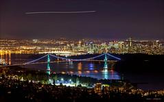 Million Dollar View (Clayton Perry Photoworks) Tags: bridge autumn fall skyline night vancouver reflections lights northshore lionsgatebridge northvancouver explorebc explorecanada