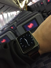 Android Wear on the plane