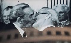 The Socialist Fraternal Kiss, The Kiss, 1979 (Regis Bossu) (neil mp) Tags: berlin wall painting graffiti mural berlinwall fr friedrichshain thekiss eastsidegallery leonidbrezhnev erichhonecker mhlenstrasse friedrichshainkreuzberg regisbossu thesocialistfraternalkiss