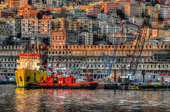 Genoa's colours (photograffiando) Tags: color water clouds landscape nikon genova 70300mm theunforgettablepictures wonderfulword ghesemmu d7000 cloudsstormssunsetssunrises nikonclubit