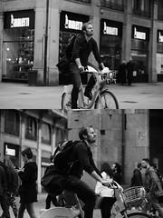 [La Mia Citt][Pedala] con il BikeMi (Urca) Tags: milano italia 2016 bicicletta pedalare ciclista ritrattostradale portrait dittico bike bicycle nikondigitale mir biancoenero blackandwhite bn bw nn 89142 bikemi bikesharing