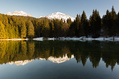 Mirroring Firs (Nicolas Gailland) Tags: lac lake water eau tree trees arbres reflects sapins fir firs montagne mountain belledonne freydieres isere isère france canon grenoble rhone alpes alpe alps mirror miroir nd gnd filtre filter hitech 5d mark landscape nature paysage
