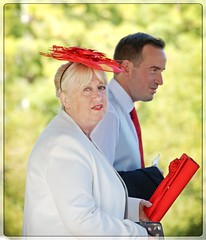 Candid photo taken in Central Park, NY (NikonGuyFromNewYork) Tags: centralpark nyc wedding nycwedding redhat red
