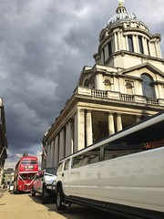 29th August 2016 (EmmaDurnford) Tags: greenwich london capital navalcollege stretch hummer cars doubledecker transport