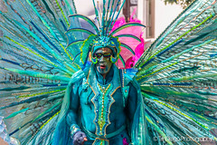 Notting Hill   TrinDiego (TrinDiego) Tags: carnival nottinghill costume street party festival parade london 2016 beauty beautiful catchy colour blue green wings warrior shades streetphotography catchcolours uk performer bright nottinghillcarnival