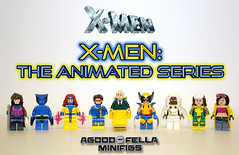 X-Men: The Animated Series [GROUP] [TEAM] [CUSTOM] [MARVEL STUDIOS] (agoodfella minifigs) Tags: lego marvel marvellego legomarvel minifigures marvelcomics comics heroes legosuperheroes legomarvelsuperheroes legoxmen minifigure moc marvelheroes xmen cyclops gambit beast jeangrey professorx wolverine storm jubilee rogue