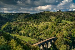 Monsal Head and Viaduct (21mapple) Tags: monsal monsalhead head viaduct bakewell peakdistrict peak district derbyshire landscape canon750d canon canoneos750d canoneos clouds cloudy sky blue grey green grass bridge outdoor outdoors outside out countryside hills hill fields