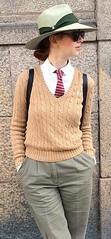 Erica (bof352000) Tags: woman tie necktie suit shirt fashion businesswoman elegance class strict femme cravate costume chemise mode affaire