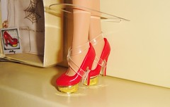 2016 Charlotte Olympia Barbie (17) - Red Dolly Pumps (Paul BarbieTemptation) Tags: 2016 charlotte olympia barbie gold label designer carlyle nuera red dolly pumps