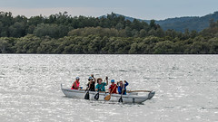Canoists out on the bay (Merrillie) Tags: water nsw sport rowers people centralcoastnsw bay centralcoast australia upsidedown outdoors boat nswcentralcoast canoists newsouthwales canoe