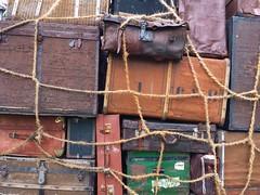 Different bags tied up (christiane.grosskopf) Tags: bags gepck luggage koffer suitecase taschen tiedup zusammengebunden samsungs4 samsunggalaxys4 brixen sdtirol altoadige