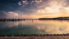 Sunset (klausi1983) Tags: sun sunset light lightning water sunny ship sea clouds sky