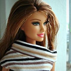 Portrait (Deejay Bafaroy) Tags: fashionistas barbie doll puppe mattel portrait portrt closeup stripes streifen striped gestreift
