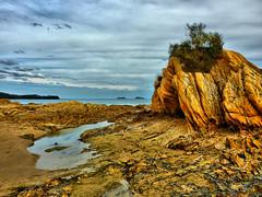 Rocky I (elphweb) Tags: australia nsw seaside overcast cloudy rocks rocky rockformation hdr highdynamicrange sea ocean water sky rockpool