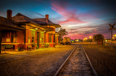 Tonight's Sunset at the Depot (10-31-16) (Explore) (donnieking1811) Tags: tennessee cookeville traindepot railroadtracks sunset sunsets canon 60d ilmc thebestofhdr thisphotorocks