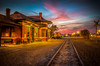 Tonight's Sunset at the Depot (10-31-16) (Explore) (donnieking1811) Tags: tennessee cookeville traindepot railroadtracks sunset sunsets canon 60d ilmc thebestofhdr