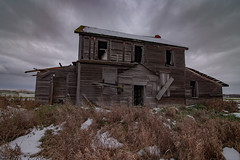 The Winter House (gerrypocha) Tags: abandoned derelict winter cold house field prairie