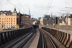 Riddarholmen 2016-04-23 (Michael Erhardsson) Tags: järnväg stockholm spår infrastruktur 2016 mars dubbelspår riddarholmen bro infart