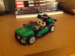 Set flashback: Nick Fury's flying car (Total BrickMaster) Tags: marvel comics lego nick fury shield flying car