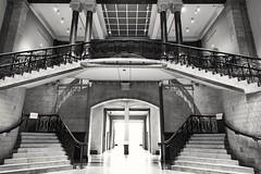 Cincinnati Art Museum staircase (A  Train) Tags: steps staircase stairs cincyartmuseum cincinnatiartmuseum cincinnati nikond750 blackandwhite