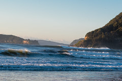 Watching the sun come up at Umina Beach (Merrillie) Tags: uminabeach landscape nature australia mountains nswcentralcoast newsouthwales sea earlymorning nsw beach centralcoastnsw umina morning outdoors waterscape sunrise waves water seascape