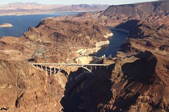 Lake Mead & Hoover Dam and US Highway 93 Bridge (Prayitno / Thank you for (11 millions +) views) Tags: konomark maverick heli helicopter tour wind dancer hooverdam lakemead new bridge highway low aerial over skyline view day time outdoor las vegas nv nevada arizona border colorado river
