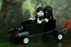 Spooky Boy's Coffin Car (Lesgo LEGO Foto!) Tags: lego minifig minifigs minifigure minifigures collectible collectable legophotography omg toy toys legography fun love cute coolminifig collectibleminifigures collectableminifigure series16 series 16 spookyboy spooky boy girl spookygirl coffincar coffin car