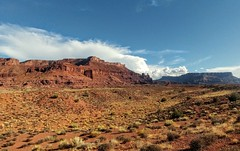 Fisher towers in the distance (dylangaughan43) Tags: rockformations desert clouds lgg5 utah color