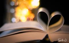 Books and Candles (Sandra J. Fotografie) Tags: heart herz candle kerzen lichterketten buch book weihnachten advent available light