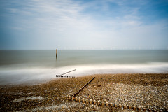 Untitled (movinonagroove) Tags: norfolk beach sea seascape groynes groyne post wooden wood wind windfarm northsea turbines windturbine longexposure leefilter lee nikon nikond810 skye