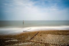Untitled (movinonagroove) Tags: norfolk beach sea seascape groynes groyne post wooden wood wind windfarm northsea turbines windturbine longexposure leefilter lee nikon nikond810 skye
