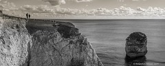 Significance [135 in Explore !! ] (frattonparker) Tags: nikond600 nikkor50mmf18 raw lightroom6 panorama frattonparker btonner isleofwight englishchannel lamanche sea stack seastack chalkdownland chalk channel figures