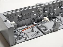 Micro Trench - Mod 1 (Dodge...) Tags: lego slug 2016 starwars trench run micro xwing falcon grey bley tiles movie scene classic pewpew