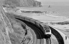 43152, Teignmouth 05/05/2016 (CF Rail Photography) Tags: 44152 class43 fgw firstgreatwestern hst highspeedtrain intercity125 diesel locomotive 1c76 londonpaddington plymouth teignmouth eastcliffwalk 05052016 seawall coastline railway