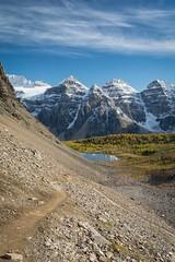Journey (Tracey Rennie - catching up) Tags: hiking alberta banffnationalpark sentinelpass valleyofthetenpeaks larchvalley scree rockies