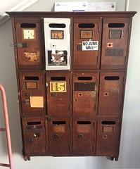 Launceston. Letterbox in old building