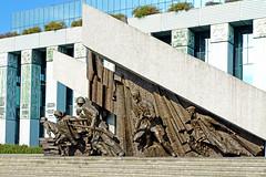 Poland-00912 - Warsaw Uprising Monument (archer10 (Dennis) 85M Views) Tags: poland warsaw sony a6300 ilce6300 18200mm 1650mm mirrorless free freepicture archer10 dennis jarvis dennisgjarvis dennisjarvis iamcanadian novascotia canada globus