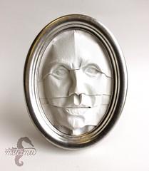 Mirror Mirror (mitanei) Tags: origami mask faces sculpture art paperart papierkunst papierskulptur gesicht maske mitanei keepfoldingon