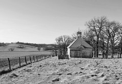 step lightly (David Sebben) Tags: oneroom schoolhouse rural benton iowa black white monochrome education cowpies
