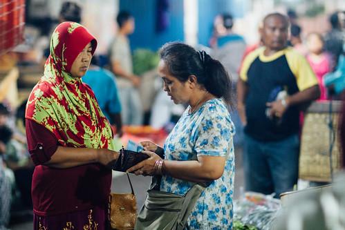 Women Shopping, Night Market Buleleng Indonesia