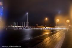 _IMG4356 (acornuser) Tags: iceland europe city lanscape cityscape architecture building glass modern light night sky water reflection pentaxk3 sigma1770 bw blackandwhite sculpture harpa lighttrail viking reykjavik