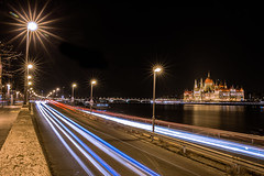 Budapest by night (Vagelis Pikoulas) Tags: budapest buda pest hungary view europe long exposure night city cityscape capital light lights november autumn 2016 canon 6d tokina 2470mm street road parliament
