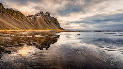 Vestrahorn (JusDaFax) Tags: vestrahorn iceland travel wanderlust ocean beach water reflaction sky clouds color sunset mountain beautiful
